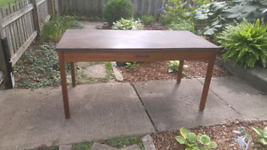 Heavy wood desk/dining table