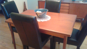 Vintage Teak dining table with chairs