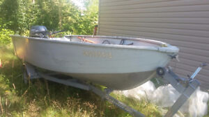15' Ultra Craft Boat with Trailer & 20 HP Yamaha