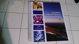 McMaster chemistry student lab notebook