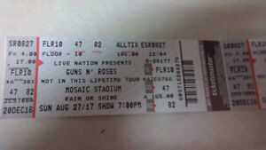 3 Guns n Roses tickets for Regina Aug 27th