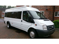 FORD TRANSIT 17 SEATER MINI BUS 1 OWNER XMOD F/S/H