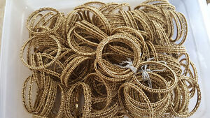 Metallic Gold Beaded Napkin Rings and chair cover ties