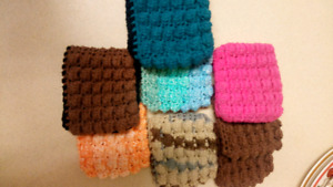 Homemade dish cloths, scrubbies etc.