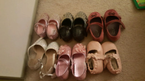 Lot of toddler girls dress party shoes!