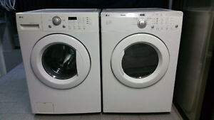 ENSEMBLE LAVEUSE SECHEUSE FRONTAL LG WASHER DRYER