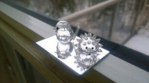 Estate Sale. Mini Crystal Figurines - Wren and Hedgehog  $5 each