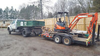 !!!*MINI EXCAVATOR AND BOBCAT WITH OPERATOR SERVICES*!!!