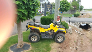 Can am outlander 650HO 2 up seat