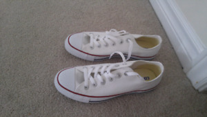 Converse Ladies White Sneakers size 9