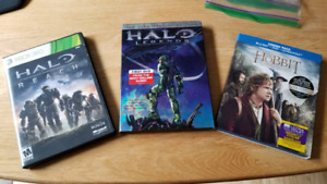 Halo Legends DVD; The Hobbits : An Unexpected Journey (Blu-ray)