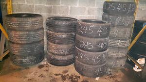 Plusieurs pneus d'été 18'' en inventaire à partir de 50$ chaque