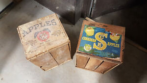 Vintage / antique wooden apple crates
