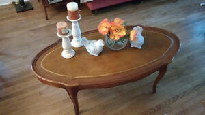 French Provincial wood coffee table