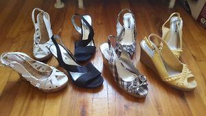 Paires de sandales à talons pointure 10