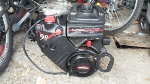 9HP Briggs and Stratton OHV electric start engine and headlight.