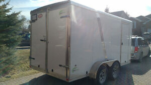 Like new 16x7x7 enclosed trailer all aluminum.