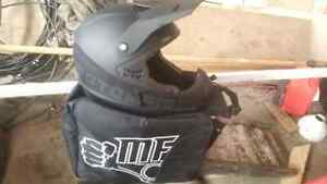 Quad or snowmobile helmet