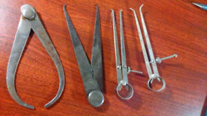 Assorted Vintage Inside + Outside Calipers