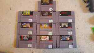 Super nintendo games and accessories for sale