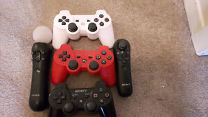 PS3 with 3 controllers,PS move and 16 games West Island Greater Montréal image 2