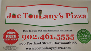 Joe Toulany's Pizza Now Hiring Cooks, Drivers & Kitchen Helpers