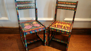 Hand Painted Childs Accent Chairs