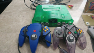 Green N64 and controllers