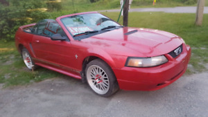 mustang 2000 convertible v6 cuir double exaust strait pipe