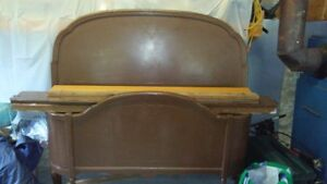 """54"""" Wooden Double Bed Frame with Spring"""