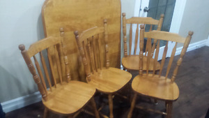 3 sets of dining table with chairs.
