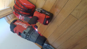 Milwaukee M18 Cordless Drill, XC 5.0 Battery and Charger
