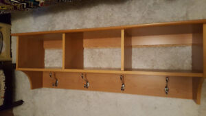 Wall Rack with Cubbies for Sale