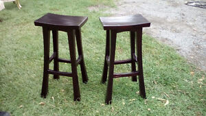 In good condition bar stools, fold-up ironing boar & plant holde