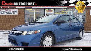 CERTIFIED 2010 CIVIC DX-G - LOADED - REMOTE START - YORKTON