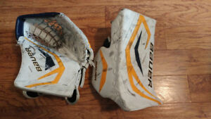 Goalie Blocker and Glove for Sale
