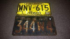 2 Vintage license plates only $15 each. 2264489639 TEXT OR CALL