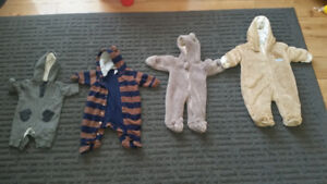New born winter suits