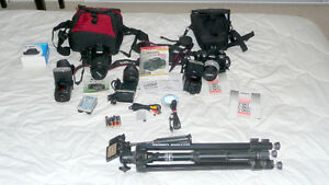 Canon E0S T2i + Nikon F80 + Zoom Lenses + Flashes + etc.