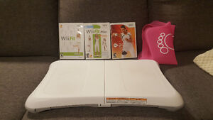 WII FIT + 3 GAMES+BOARD COVER(*on hold pending pickup)