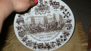 "VINTAGE LOVELY ""THE FATHER'S OF CONFEDERATION 1867-1967"" PLATE Kitchener / Waterloo Kitchener Area image 8"
