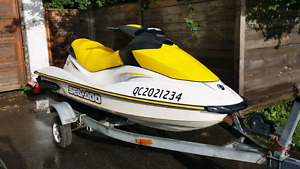 2007 Sea Doo GTI 4-strokes with trailer