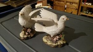 Two Ceramic Lovely Doves