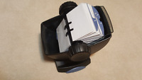 Rolodex Swivel Card Holder w/ Cover