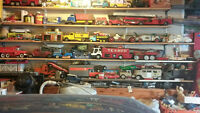 Garage full of great toys and antiques