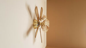 Country-Style Ceiling Fan w/ Light(s)