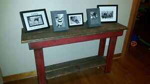 New Rustic Red 4ft Hallway / Entry Table with bottem shelf