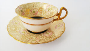 Royal Stafford Gold & Floral Chintz with Chocolate Tea cup