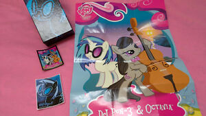 My Little Pony DJ Pom 3 & Octav box, poster, card(F42) & sticker