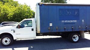 2000 Ford F550 curtain side truck boite rideau